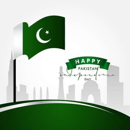 Pakistan Independence Day Vector Design Illustration For Celebrate Moment Banco de Imagens - 154031418