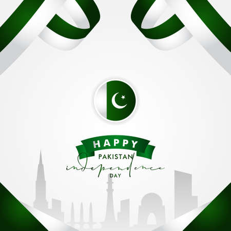 Pakistan Independence Day Vector Design Illustration For Celebrate Moment Banco de Imagens - 154031492