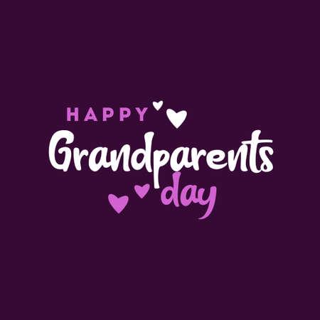 Happy Grandparent Day Vector Design Illustration For Celebrate Moment