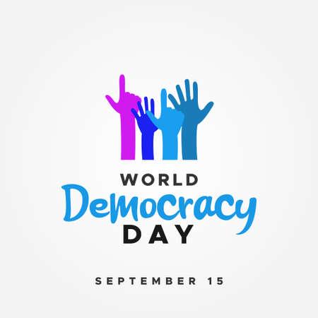 World Democracy Day Vector Design Illustration For Celebrate Moment