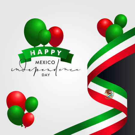 Mexico Independence Day Vector Design Illustration For Celebrate Moment Vettoriali