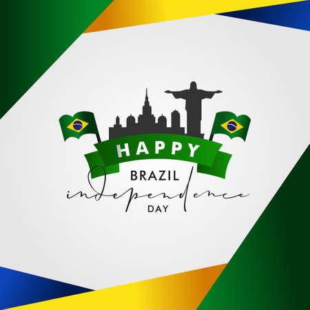 Brazil Independence Day Vector Design Illustration For Celebrate Moment