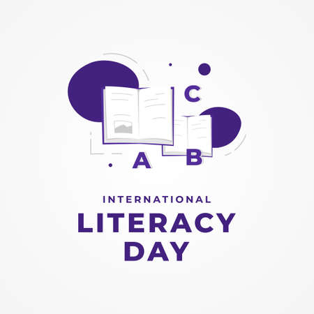 World Literacy Day Vector Design Illustration For Celebrate Moment