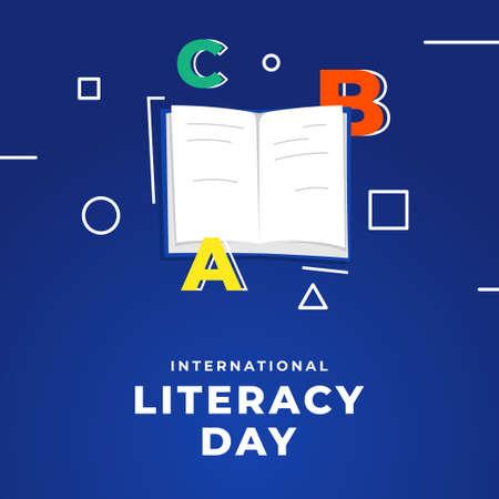 World Literacy Day Vector Design Illustration For Celebrate Moment