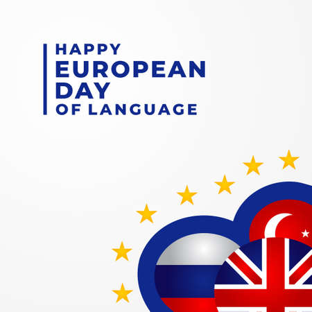 European Language Days Vector Design Illustration For Celebrate Moment