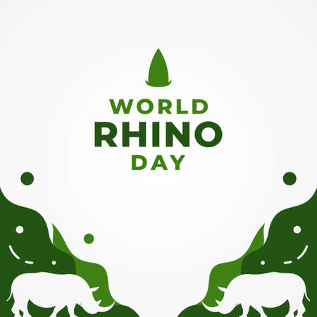 World Rhino Day Vector Design Illustration 일러스트