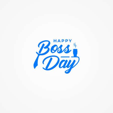Happy Boss Day Vector Design Illustration For Celebrate Moment