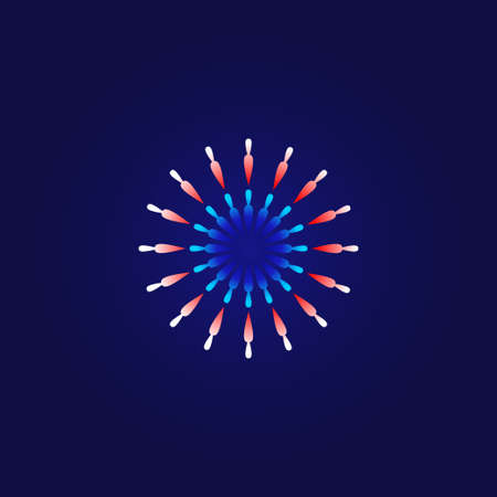 Firework Vector Design Illustration For Celebrate Moment. Firework For New Year Celebrate