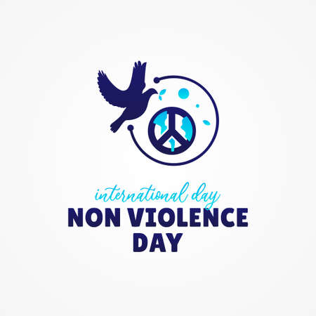 Internaional Day Of Non Violance Day Vector Design Illustration For Banner and Background