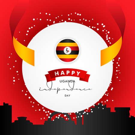 Uganda Independence Day Vector Design Illustration For Celebrate Moment