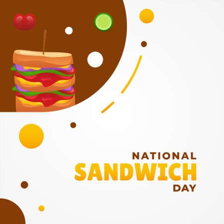 National Sandwich Day Vector Design Illustration For Banner and Background