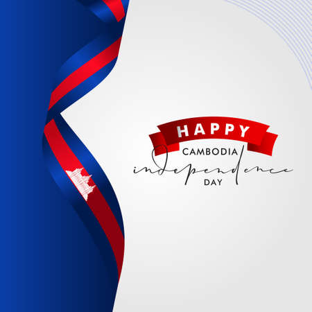 Cambodia Independence Day Vector Design Illustration For Banner and Background