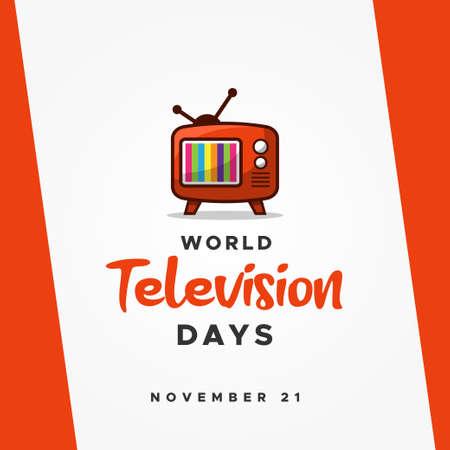 World Television Day Vector Design Illustration For Banner and Background 免版税图像