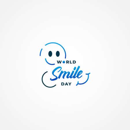 World Smile Day Vector Design Illustration For Banner and Background 免版税图像