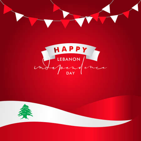 Lebanon Independence Day Vector Design Illustration For Banner and Background