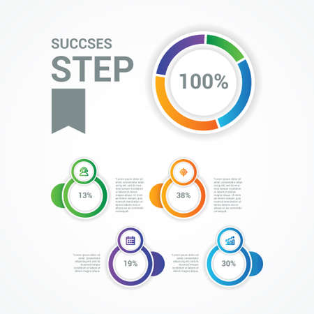 Business Infographic Vector Design Illustration For Banner and Background 矢量图像