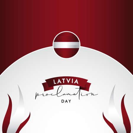 Latvia Independence Day Vector Design Illustration For Banner and Background 矢量图像