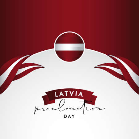 Latvia Independence Day Vector Design Illustration For Banner and Background
