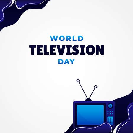 World Television Day Vector Design Illustration For Banner and Background 矢量图像