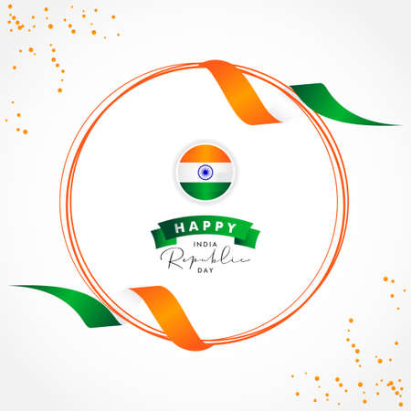 India Republic Day Vector Design Template Background