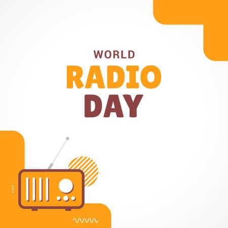 Happy World Radio Day Vector Design Template Background