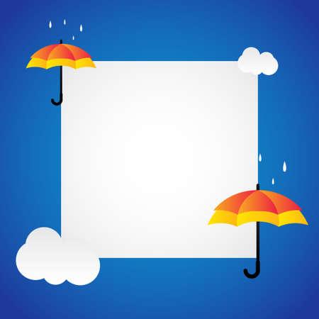 Happy Umbrella Day Vector Design Template Background. National Umbrella Day