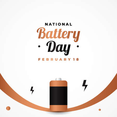Happy Battery Day Vector Design Template Background