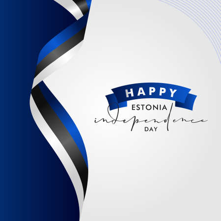 Estonia Independence Day Vector Design Template Background