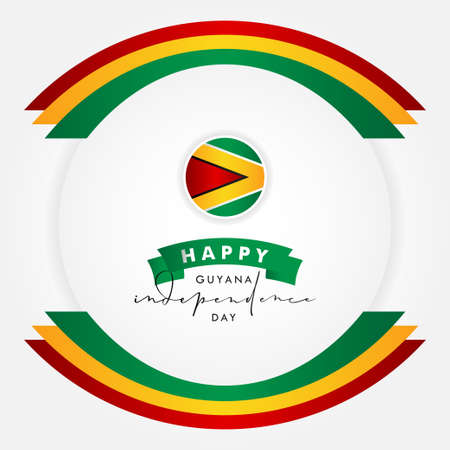 Guyana Independence Day Vector Design Template Background