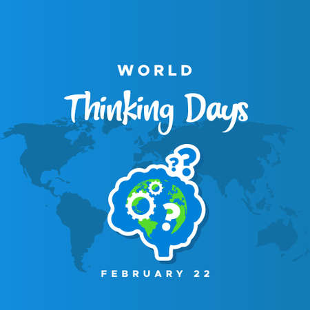 World Thinking Day Vector Design Template Background