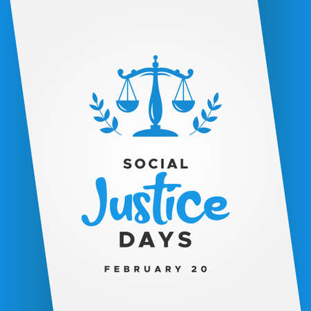 World Social Justice Day Vector Design Template Background