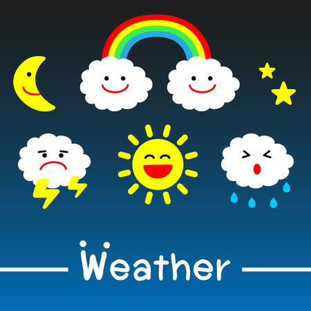 torrential rain: Weather icons - vector Illustration