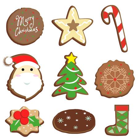 christmas cookie: Vector illustartor merry christmas cookie product
