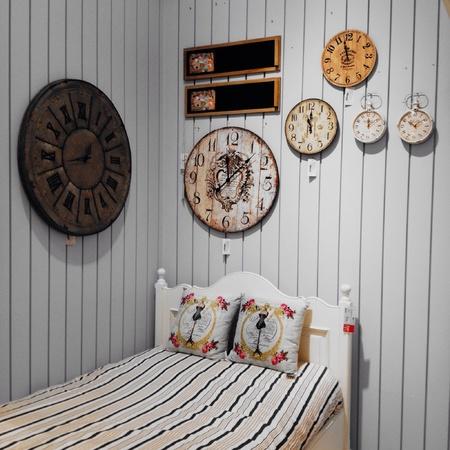 style: Vintage Style Bedroom Stock Photo
