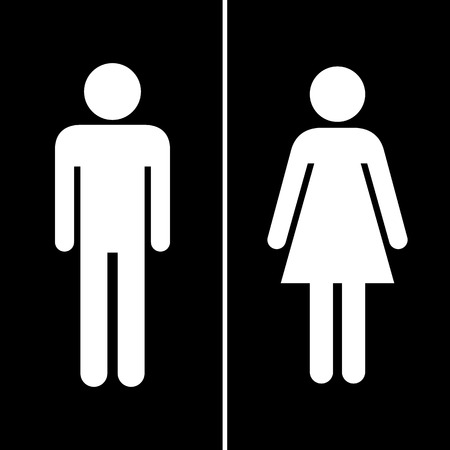 Black man and lady toilet sign Vector