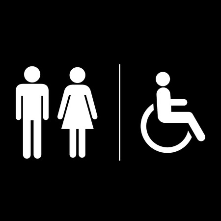 bathroom sign: Restroom sign vector