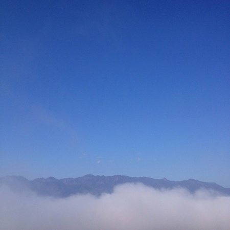 view: Cloud in the blue sky Pai in Thailand