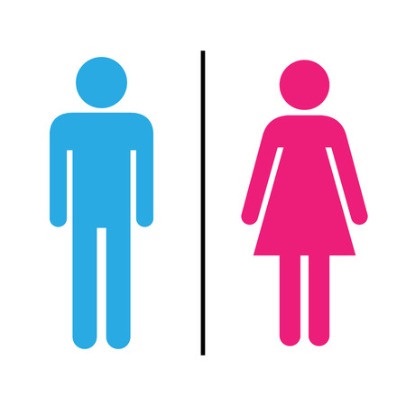 Man and lady toilet Illustration