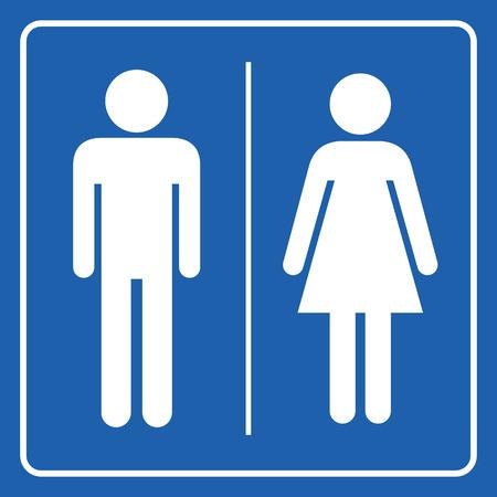 Man and Woman restroom sign Иллюстрация
