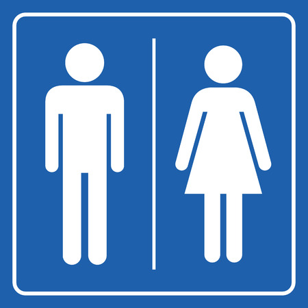 Man and Woman restroom sign Illustration