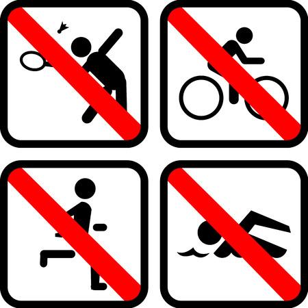 no swimming: No stop Sport Illustration