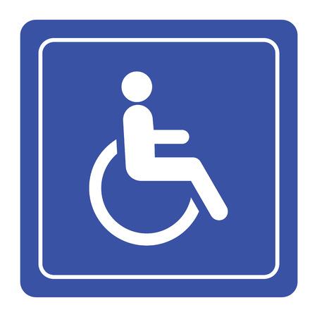 Behinderte Behinderung Symbol-Zeichen-Vektor Illustration