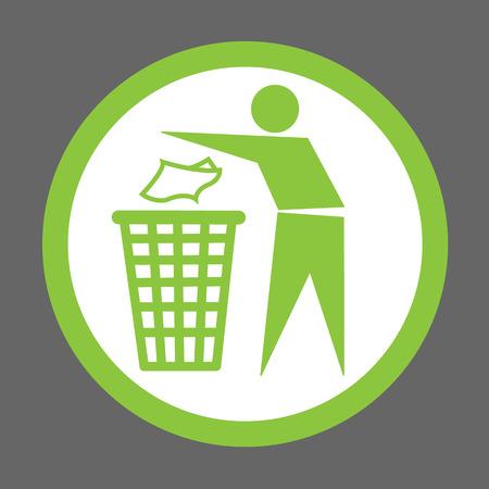 No littering sign vector