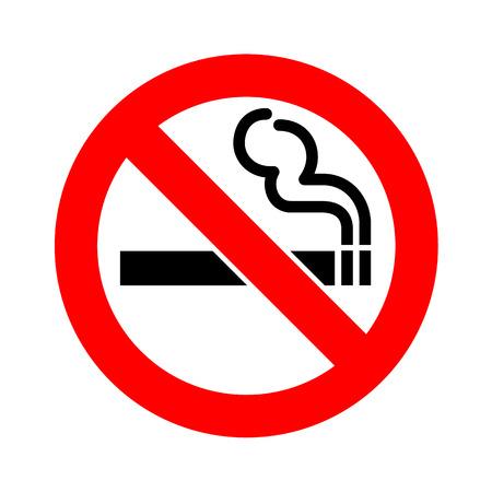 Niet roken teken pictogram vector