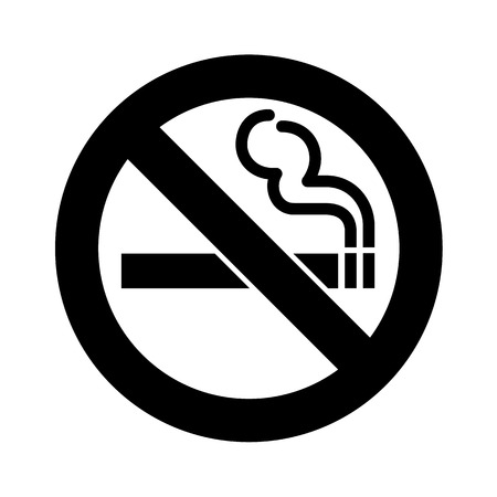 black smoke: No smoking sign vector Illustration