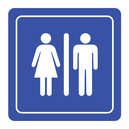 Vector restroom icons Ilustrace