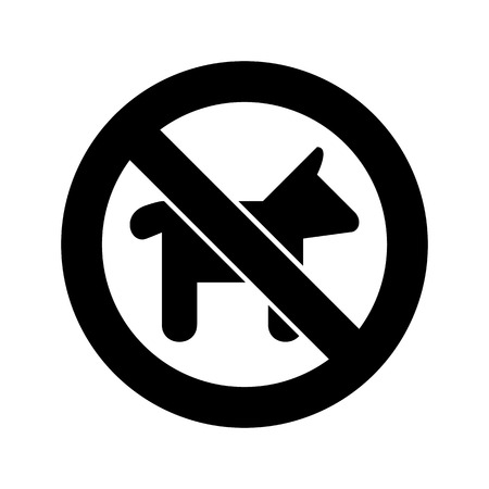 illegal zone: Not Dog sign vector