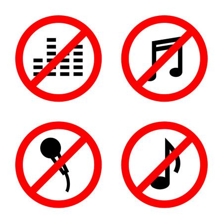 Not allowed music sign vector Illustration