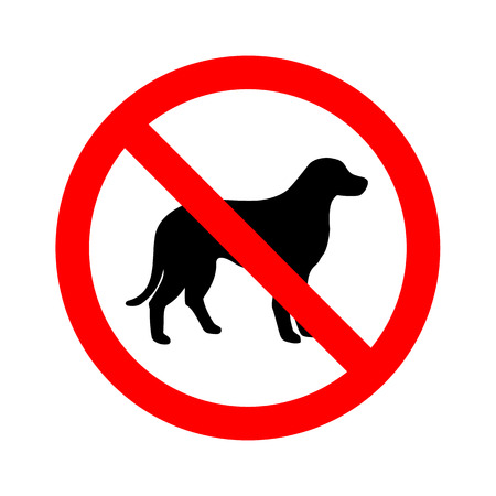 Not Dog sign vector