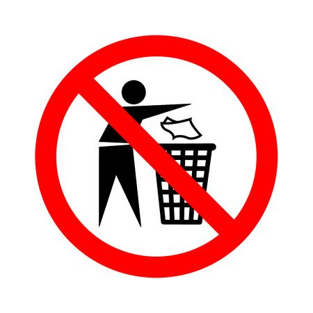 keep clean: Not litter sign vector Illustration